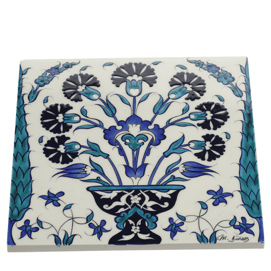 Replica Tile With Vase Pattern