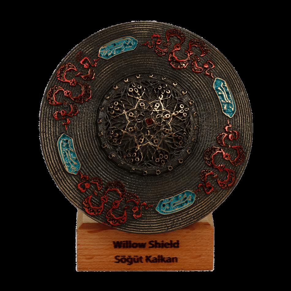 Ottoman Shield Metal Statue
