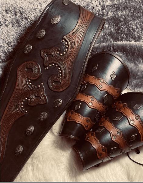 Dirilis Ertugrul Leather Belt and Armrest - Home