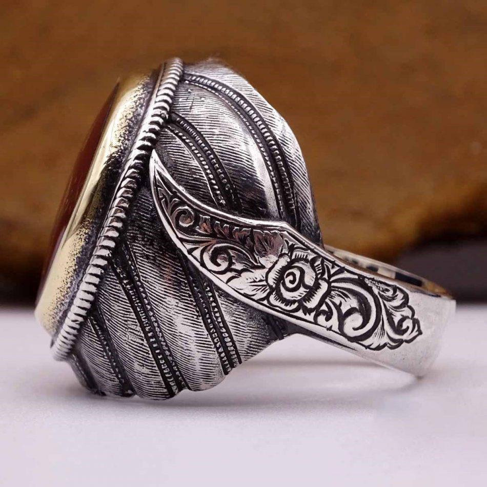 Turkish Silver Rings For 4 950x950 - Alhamdulillah Written Silver Ring For Men